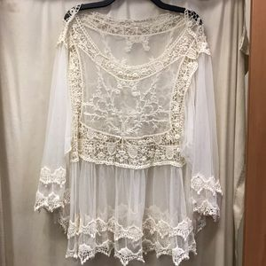 Other - Crochet and Sheer beach cover up